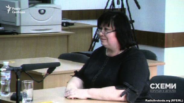 Суддя Апеляційного суду Києва Олена Мазурик під час проходження переатестації