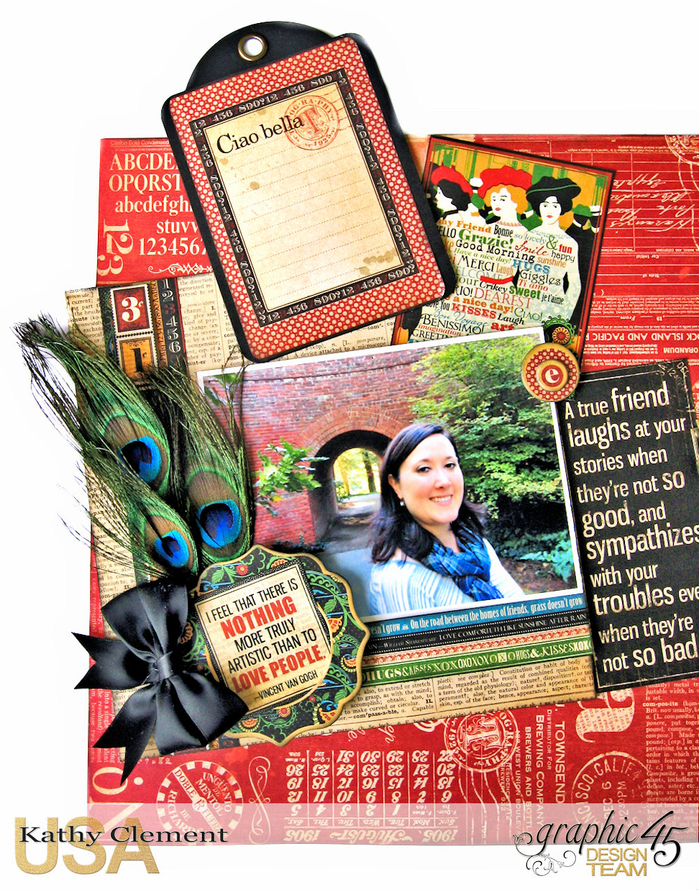 Ciao Bella Layout Tutorial Typography by Kathy Clement Product by Graphic 45 Photo 6 .jpg