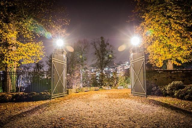 Yard Gate Post Lights