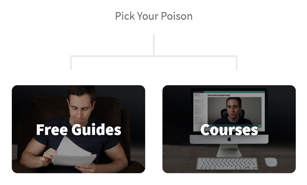 Free guides vs course