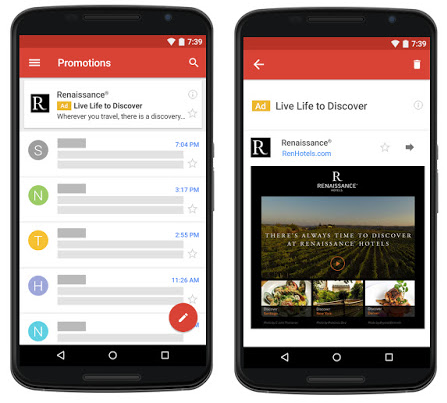 Нативная реклама в Gmail теперь доступна всем рекламодателям в AdWords