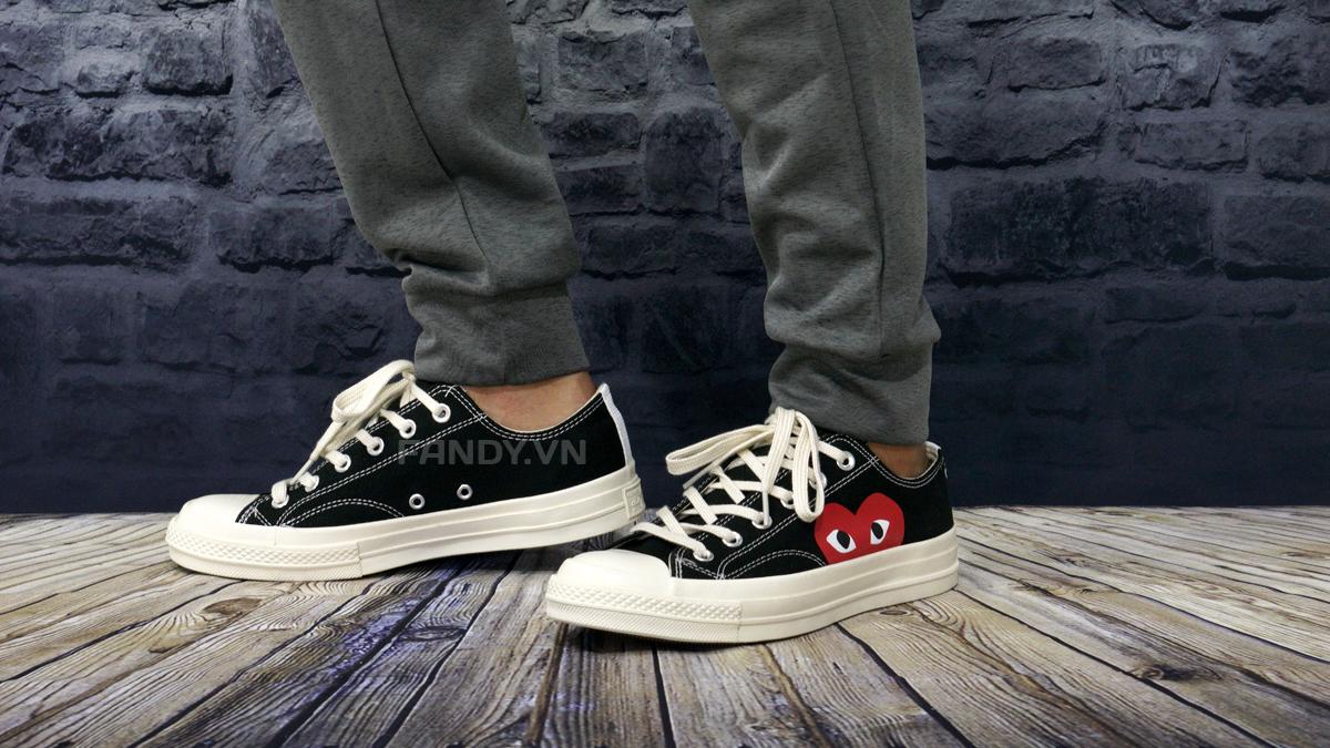 Converse x CDG Low Black/ White