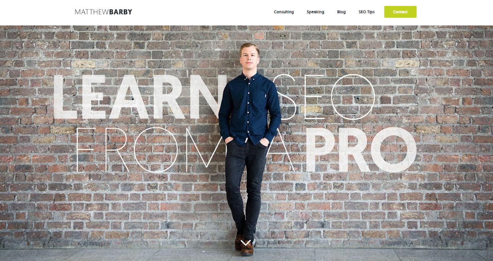 Matthew Barby's personal website