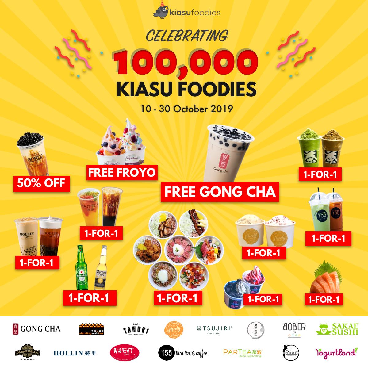 Kiasu Foodies celebrates 100K subscribers with FREE Gong Cha
