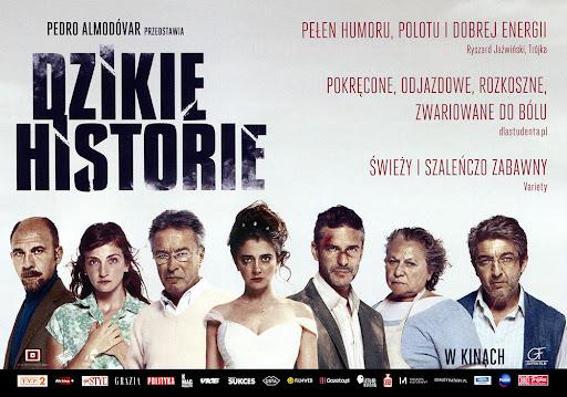Przód ulotki filmu 'Dzikie Historie'