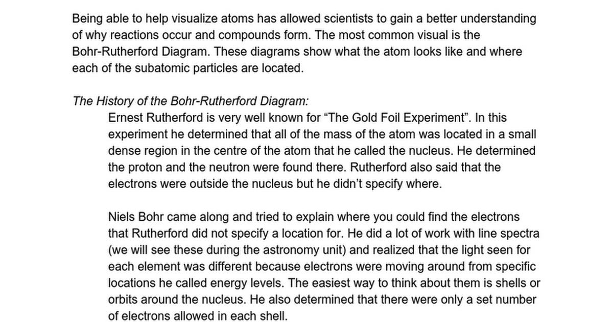 Snc1p Chem08 Bohr Rutherford Diagrams Google Docs