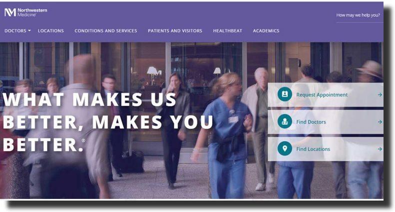 Northwestern Medicine website inspirational design