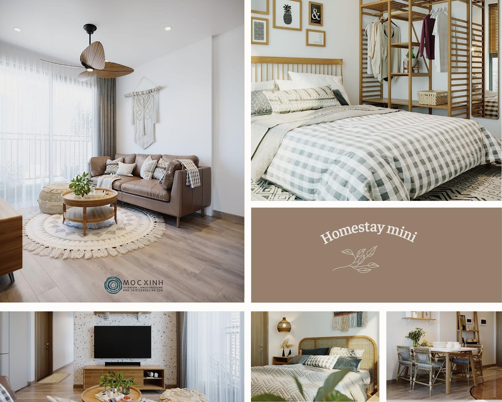 Thiết kế homestay nổi bật cho không gian căn hộ