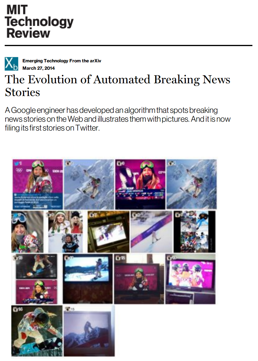 The Evolution of Automated Breaking News Stories