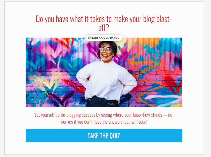 quiz cover for Do you have what it takes to make your blog blast off quiz