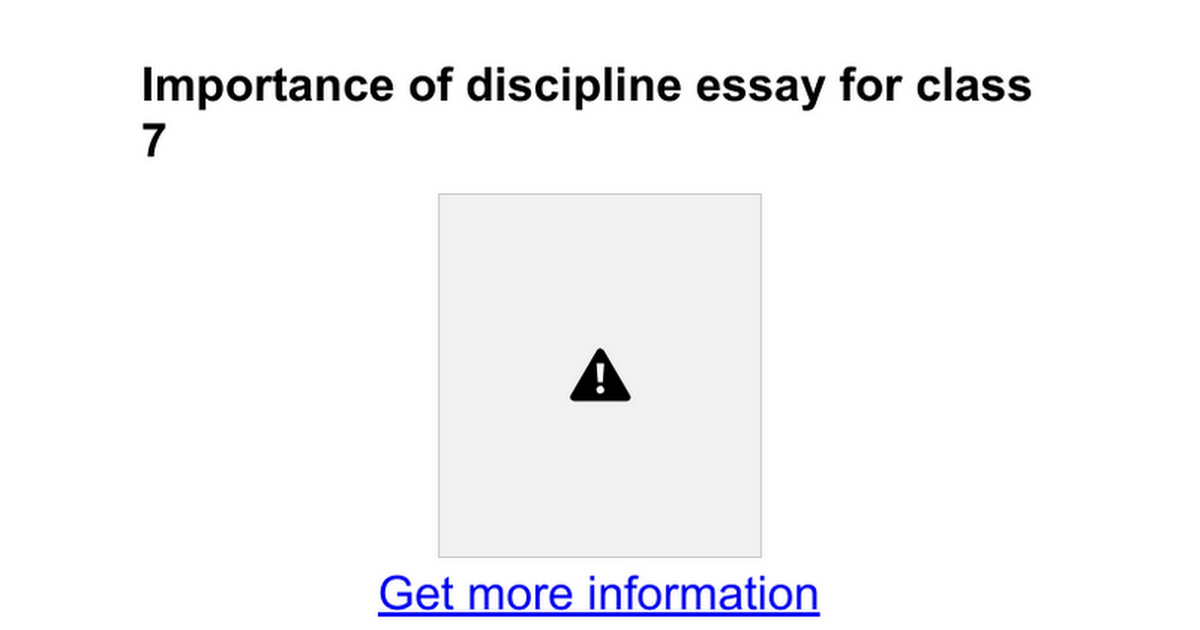 importance of discipline essay for class google docs