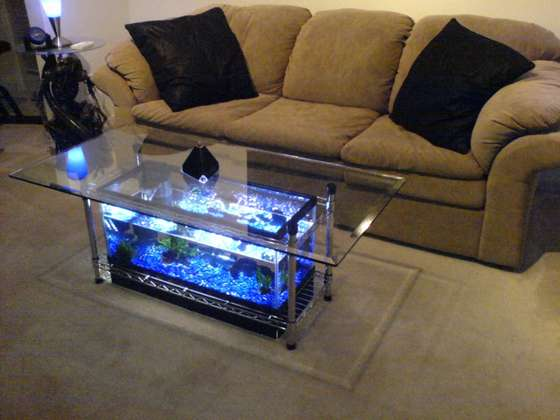 Make Things For Home Aquarium Coffee Table