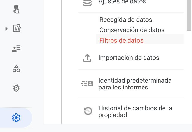 Filtro de exclusión de datos de desarrolladores