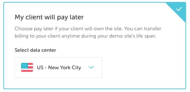 Flywheel signup pay later
