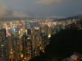 travel as a vegan in china. Victoria Peak, Hong Kong