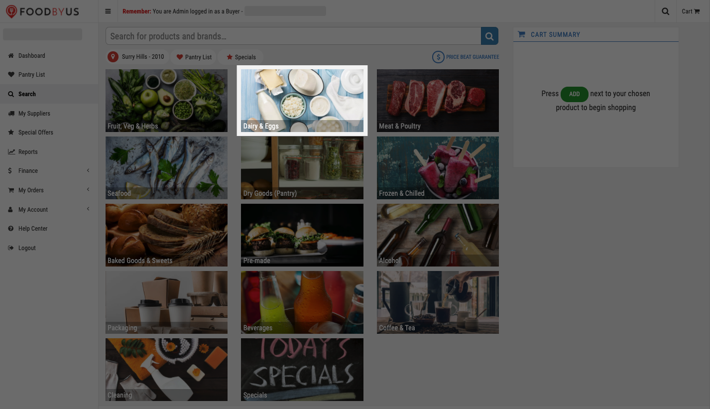 FoodByUs_dashboard_search_choose_a_product_category