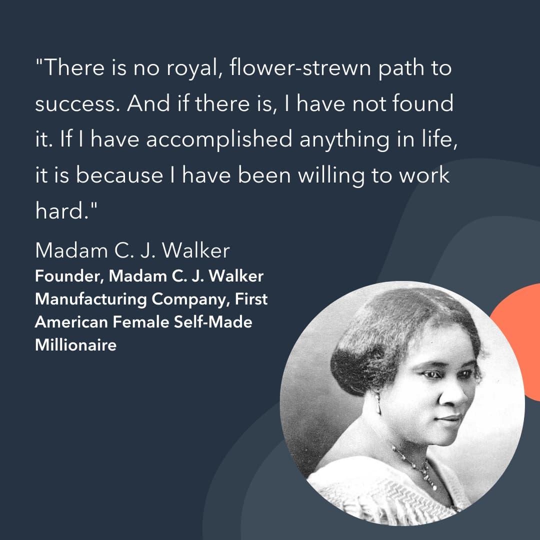 entrepreneur advice Mdam C.J. Walker