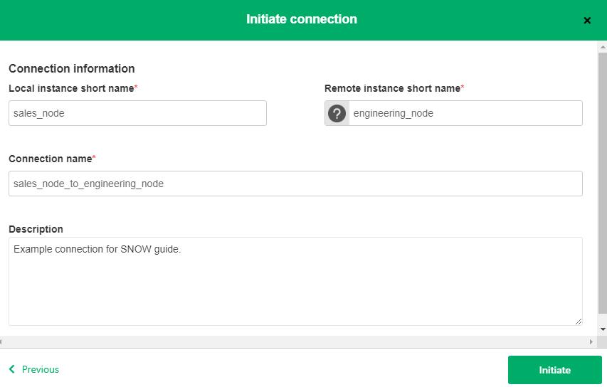 ServiceNow Integration information