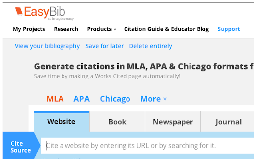 How To Cite A Website In Mla Format     Mla Citation Guide     Easybib     EasyBib