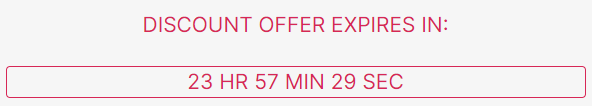 Giving the discount text some color