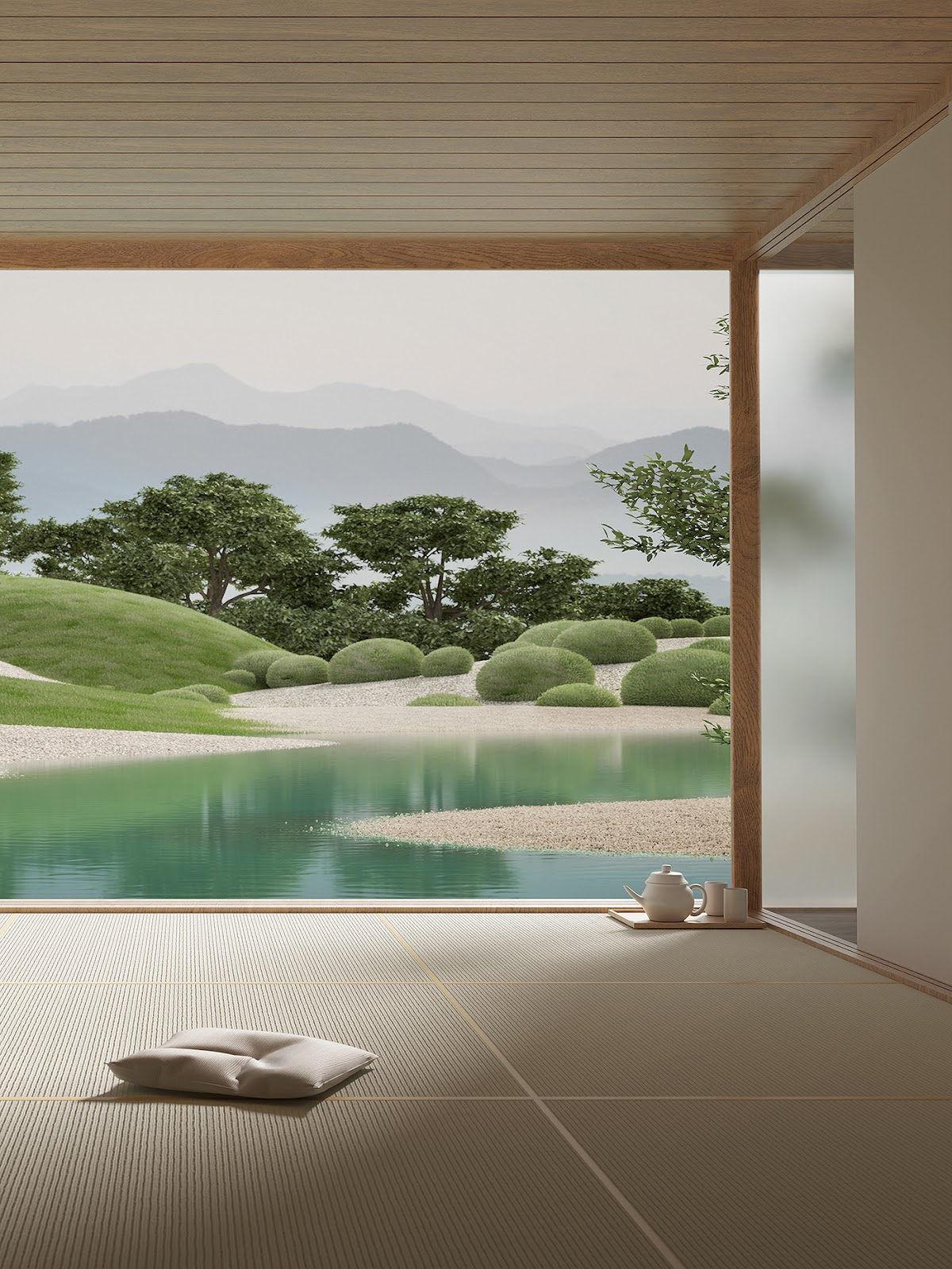 Image may contain: lake, tree and water