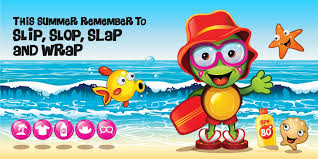 Image result for slip slop slap and wrap