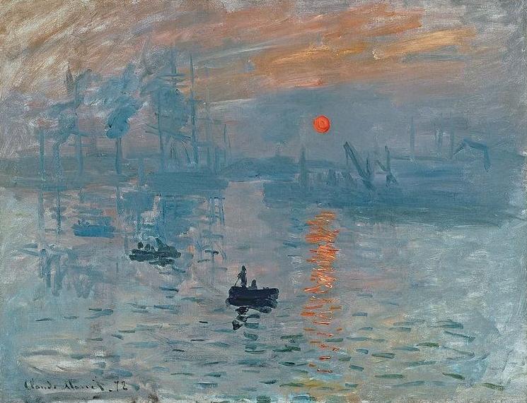 "Impression"" by Claude Monet."