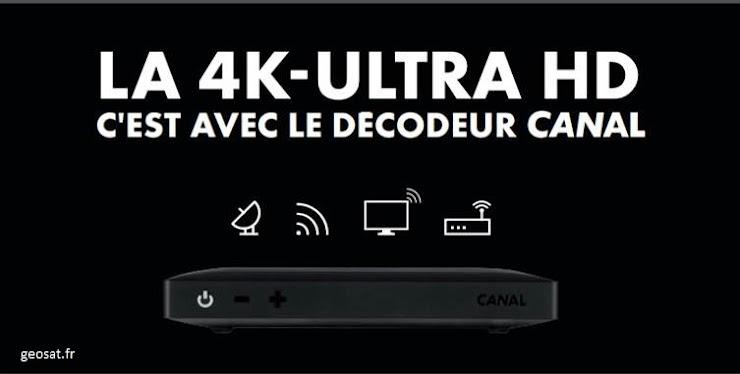 Cochez votre Mode de réception pour la Télévision. Ci-dessus le nouveau décodeur CANAL UHD 4K pour une expérience Cinéma Incroyable, avec jusqu'à 4 enregistrement simultanés possibles ! Venez le découvrir en boutique ! Présentation Ici : http://www.geosat.fr/actualite/153-nouveau-decodeur-canal-uhd-g9.html
