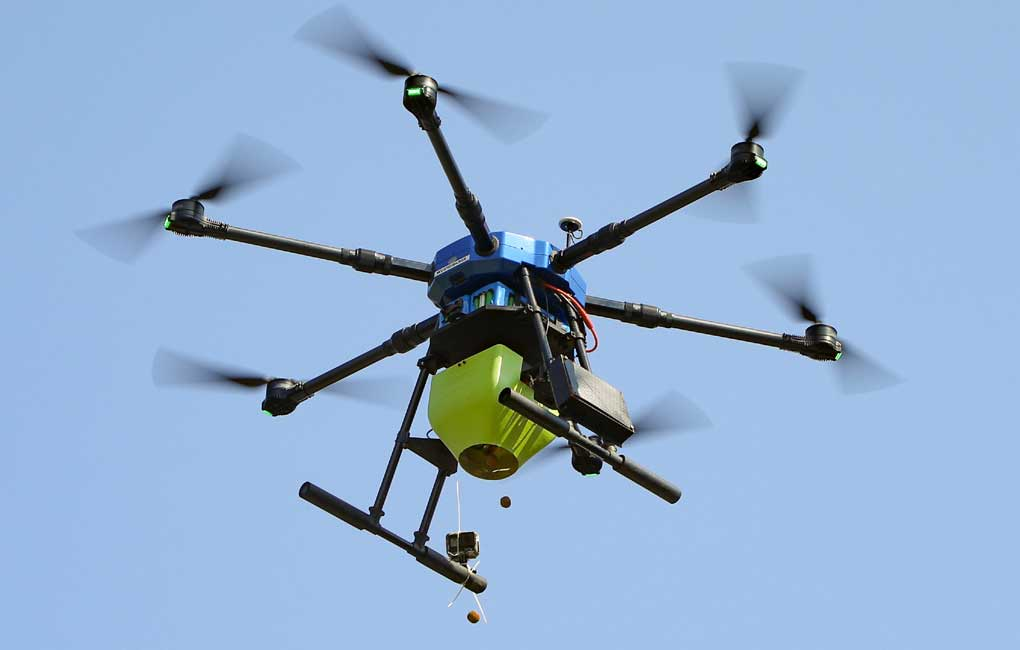 afforestation project marut drones