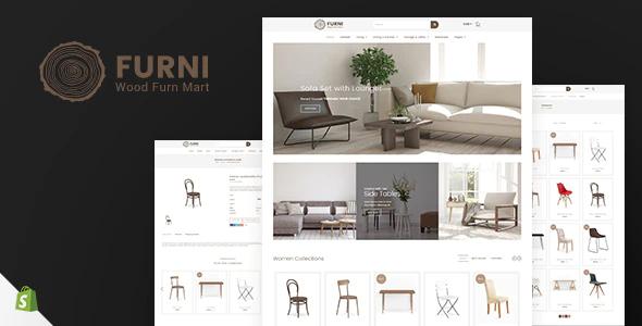 Shopify responsive themes Furni