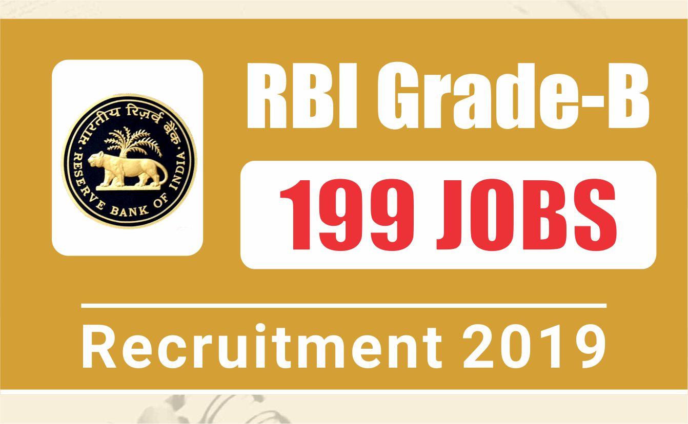 RBI Grade B Vacancy 2019