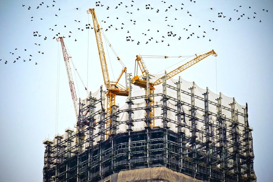 Building, Construction, Site, Cranes, Architecture