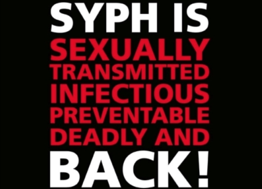 A poster from the UK warns of the syphilis comeback there as well. (Photo: wiki media)