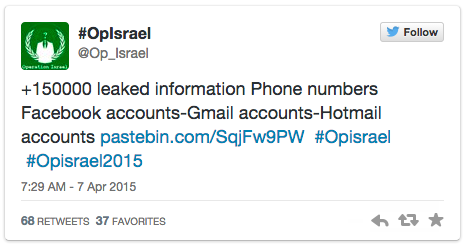 Hackers Anonymous Launches 'Electronic Holocaust' on Israel
