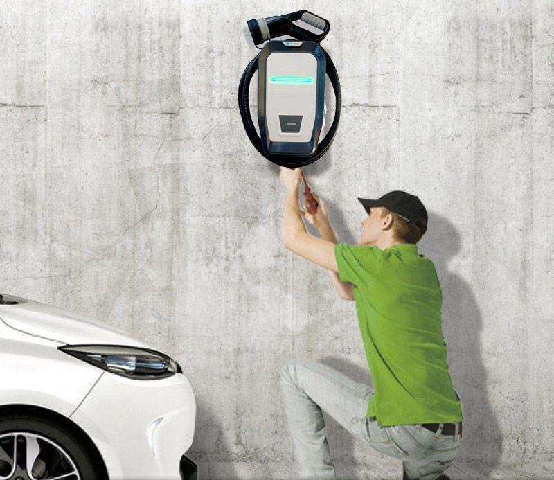 Instalación de punto de recarga para coches eléctricos