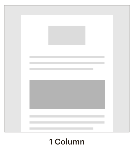 Mail chimp template 1 column