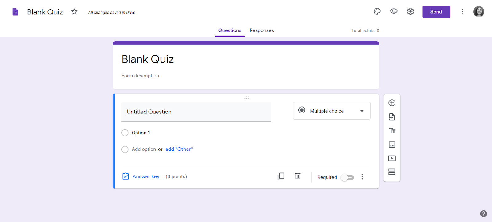 Google form quiz builder