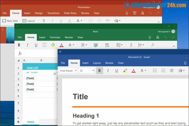 Người dùng truy cập Office.com để sử dụng bộ công cụ Office