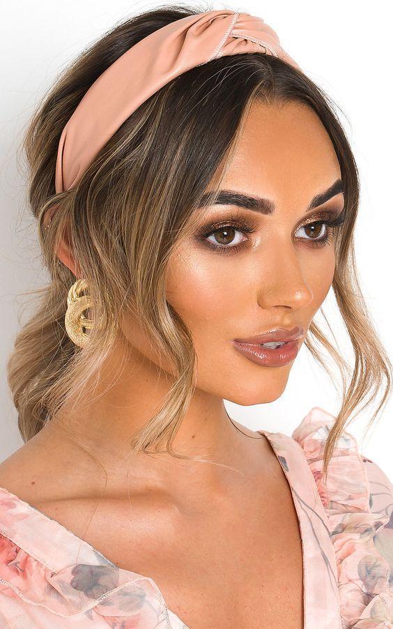 IKRUSH Womens Tay Faux Leather Hairband  Blush UK 1SZE