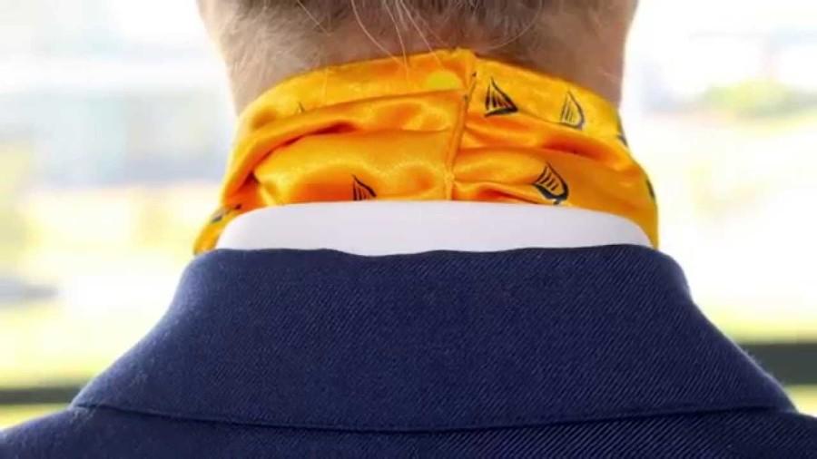 Ryanair's branded scarf
