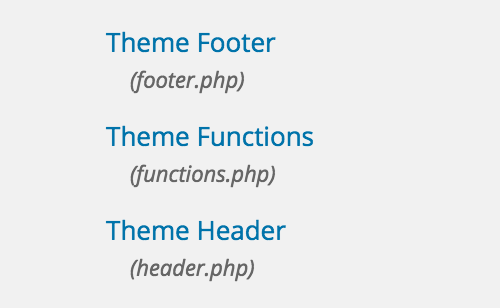 Wordpress Theme Header