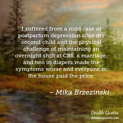 Postnatal depression quotes