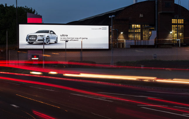 Large roadside billboards get the attention of busy commuters on their way to and from work, when they're open to advertising messages.