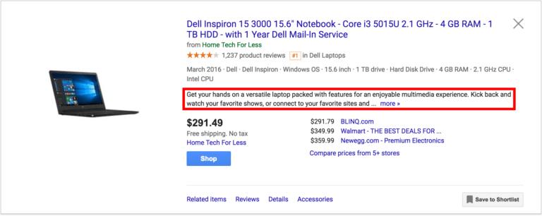 Google Shopping Feed Optimization - Description