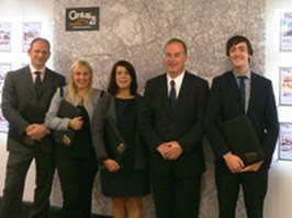 Jeremy Gordon, (Century 21 Westminster Associate), Dani Roberts and Rachel Griffiths (both Century 21 UK), Paul Corcut (Century 21 Westminster Owner), and Ryan Woolley (Century 21 Westminster Associate) celebrate the launch of the Westminster office