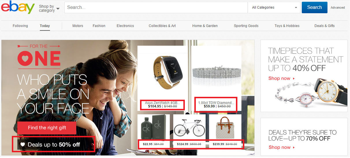 Desire principle ebay eCommerce Optimization