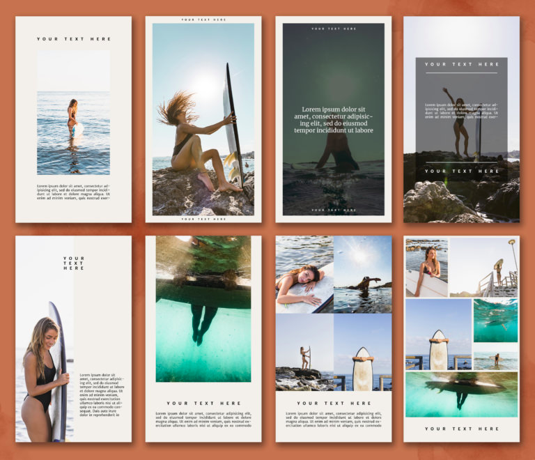 Surfing Instagram Stories Template