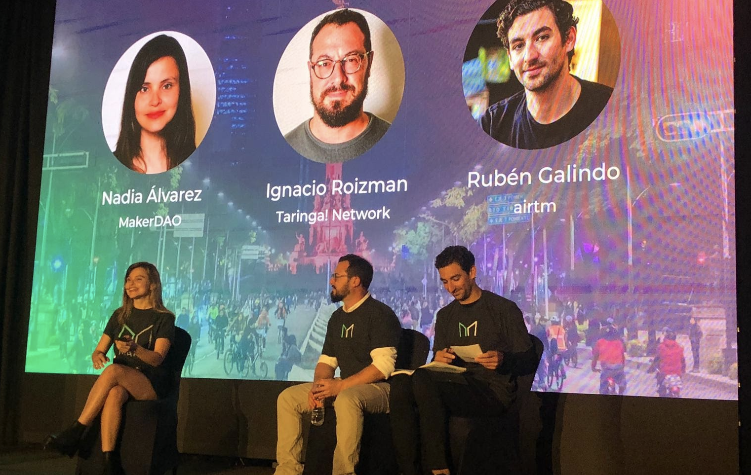 Maker's Nadia Alvarez, co-moderated a panel discussion on decentralization and crypto in Latin America.