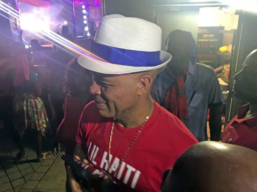 Fans outnumbered protesters as ex-president Martelly came to sing at Little Haiti show