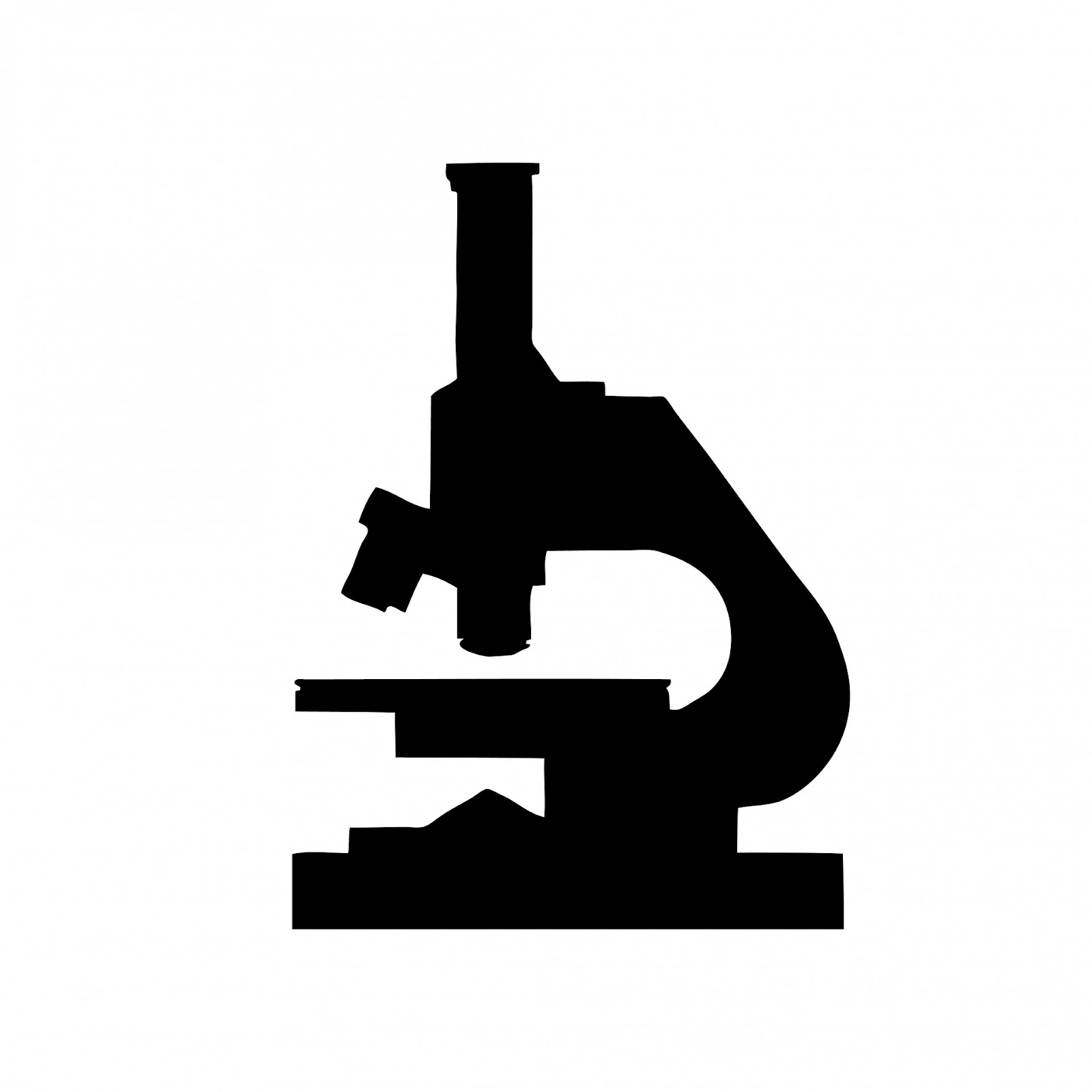 Microscope Silhouette Clipart